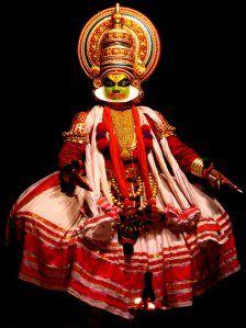 Kathakali dancer.