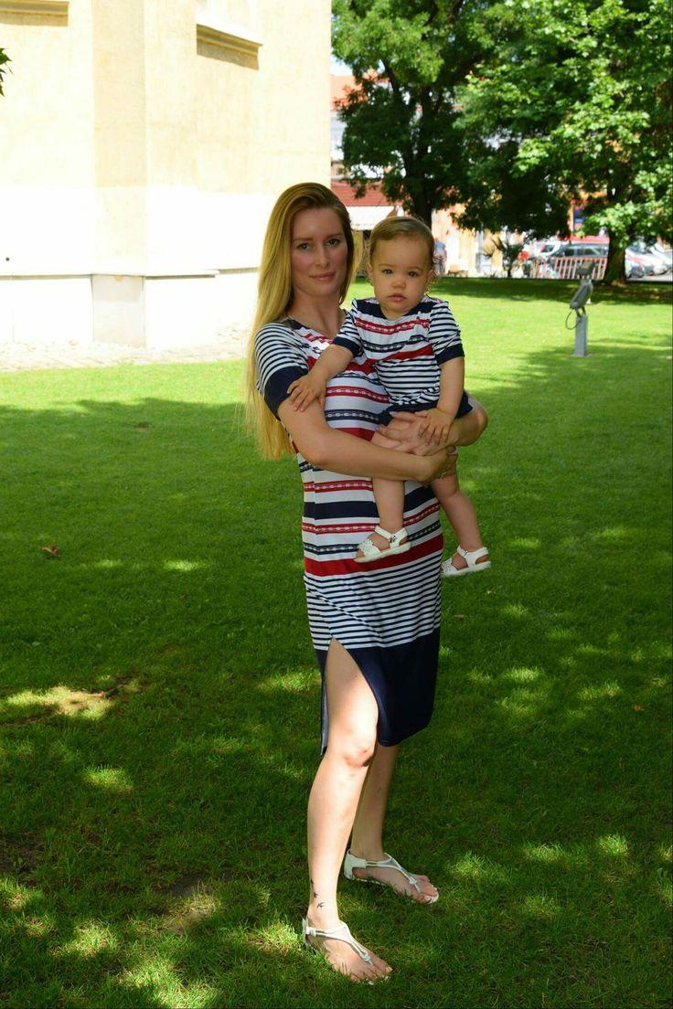 Matrózmintás anya-lánya szett www.minniemes.com