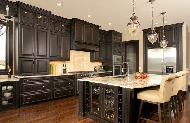 Dark Wood Kitchen Cabinets With Dark Wood Floors