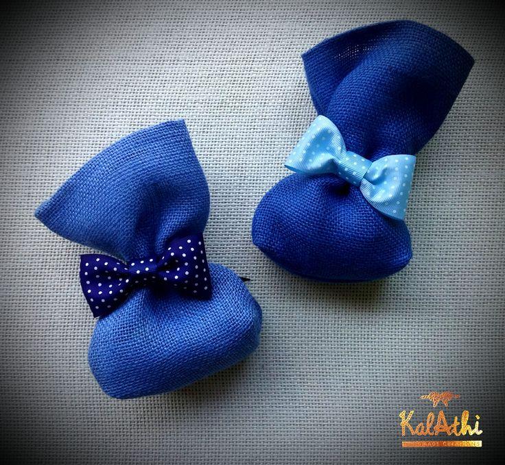 """""""Bow ties"""" on burlap pouches by KalAthi photo © KalAthi"""