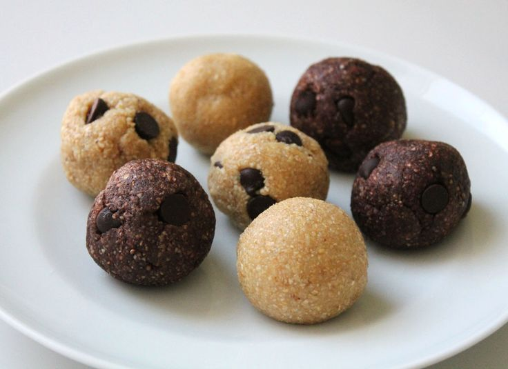 Vegan No-Bake Cookie Dough Balls from the Live. Learn. Love. Eat. blog