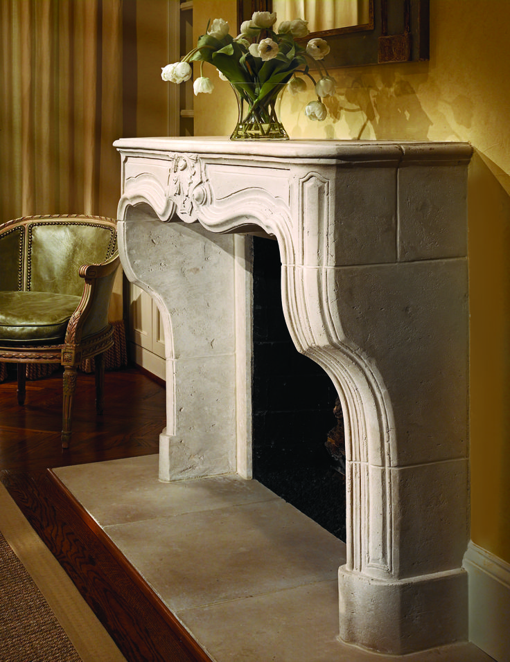 Fireplace Co Part - 32: The Pontigny Limestone Fireplace Mantel From Francois U0026 Co Is A Replica Of  A French Louis