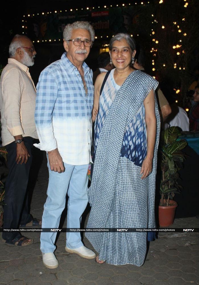 Naseeruddin Shah and Ratna Pathak Shah caught the show.