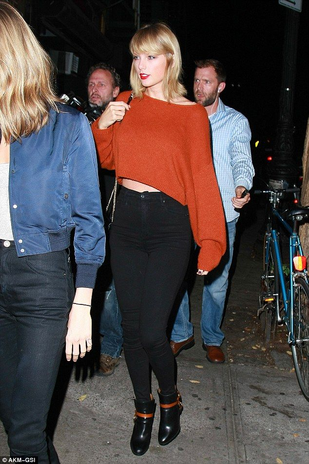 Fun with friends: Taylor Swift stepped out for another girls night out in New York on Thursday