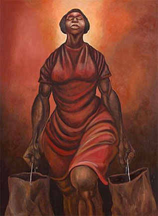 """""""My MIss America"""" Ernie Barnes-I think this is a very powerful image.  It makes me tear up!"""