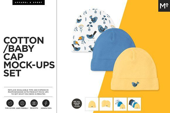 Cotton Baby Cap Mock-ups Generator by Mocca2Go/mesmeriseme on @creativemarket