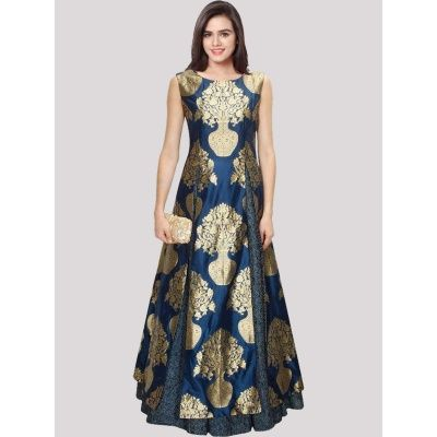 Bright Blue Jacquard Jacquard  Lehengha comes with Matching Color Choli, silk Dupatta. It contained the Digital Print.The Semi Stitched Lehenga Can be customized up to bust size 40