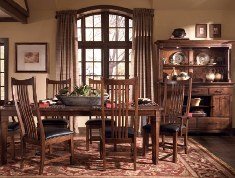 Kincaid Furniture Rosecroft Dining Set Warm Brown