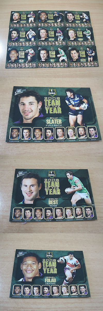 Rugby League NRL Cards 25583: Select Nrl Classic Rugby League 2008 Team Of The Year Card Set All Positions -> BUY IT NOW ONLY: $84.99 on eBay!