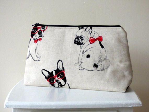 French Bulldog Toiletry Bag Frenchie Wash Bag Travel Bag