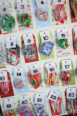 advent...I like this because with three kids it is hard to fit 3 treats in those little boxes!