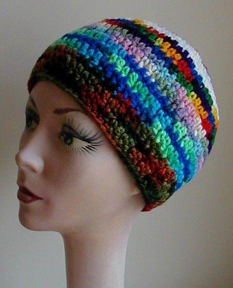 Head Huggers: Crochet Pattern: J.T.'s Favorite Stitch Chemo Cap