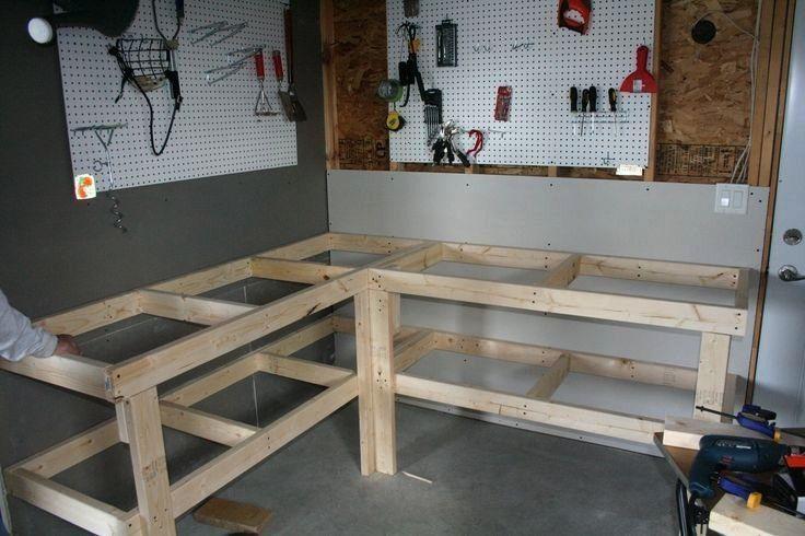 Woodworking Workbench Antique Vintage Garage Built In 2020