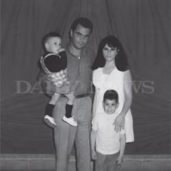 "This photo from the book ""Shadow of My Father"" by John (Junior) Gotti features (l. to r.) John Ruggiero, John (Junior) Gotti, Frankie Gotti and Anna Maria Ruggiero during a visit to Lewisburg Federal Penitentiary in 1971."