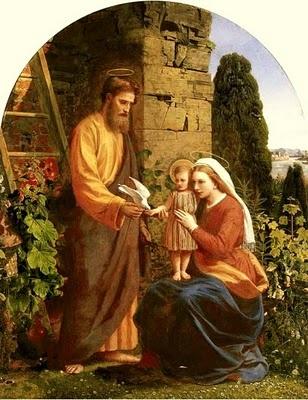 The Holy Family: oil on canvas by the Pre-Raphaelite artist James Collinson (1878) [Pre-Raphaelite]