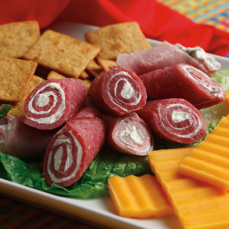 These Kunzler bologna roll-ups are a party favorite. Simple and sweet, these treats will go fast.