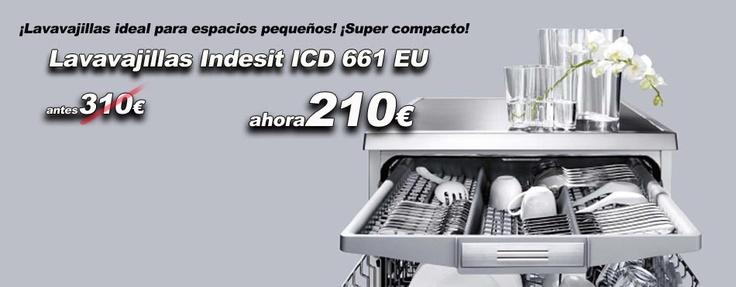 ¡Lavavajillas ideal para espacios pequeños! ¡Super compacto! http://www.esmio.es/lavavajillas-indesit-icd661eu.html