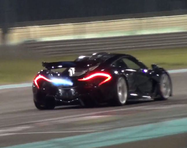 Burn, baby, burn! Watch this McLaren P1 spit flames. Click to view!