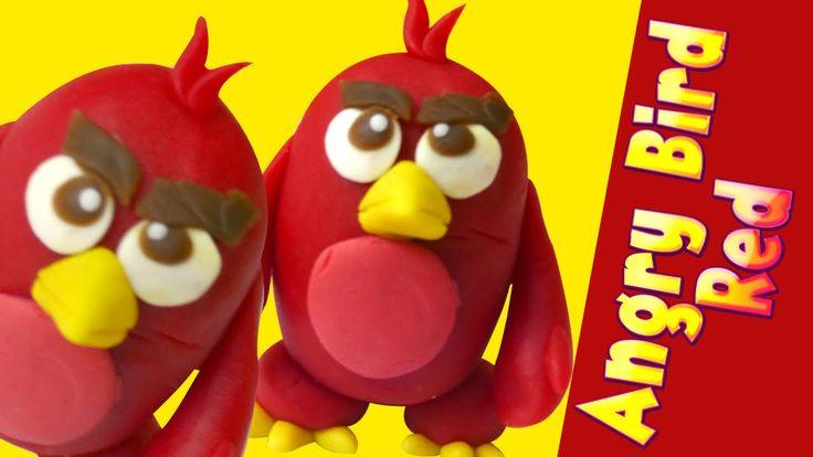 Play Doh Angry Bird Red Character | How to make Angry Bird Red clay model