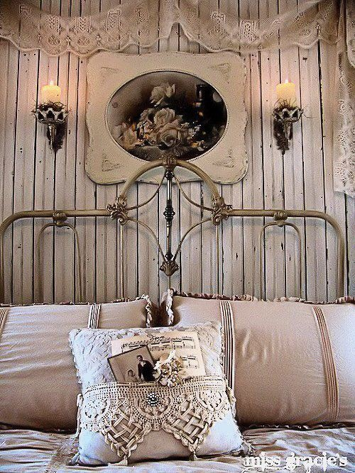 Antique iron bed from Miss Gracie's House