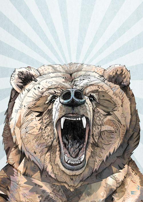 ● Grizzly ● - Sandra Dieckmann | Illustration