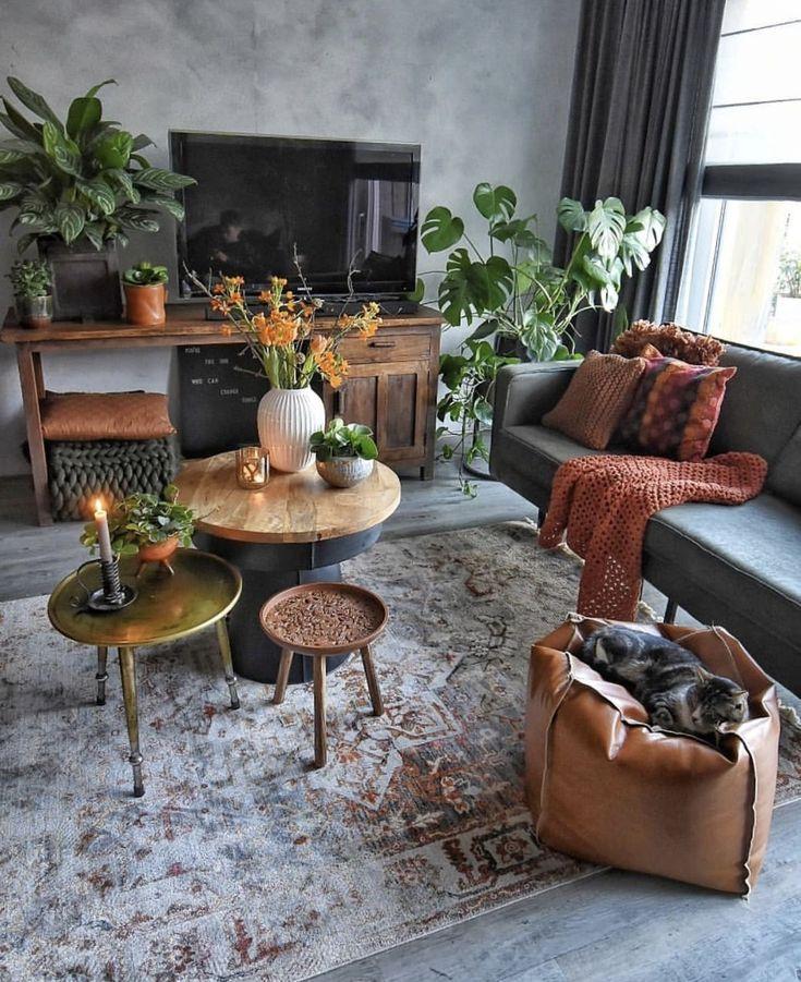 7 warme und komfortable Wohnzimmer Designs