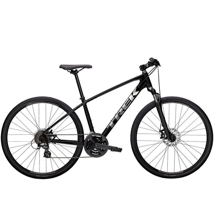2021 Trek Dual Sport 1 Mens Hybrid Bike in Trek Black in
