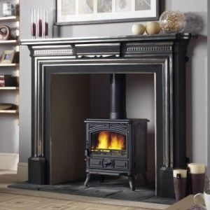 I want to give a pot belly (I know this isn't one) its own mantle.... Franco Belge Montfort Classic 5kW Wood Burning Stove