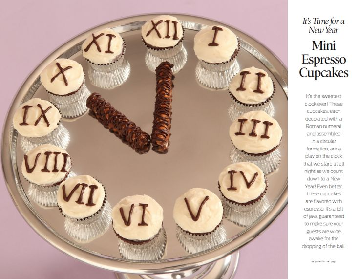 New Years Eve Cupcake party clock