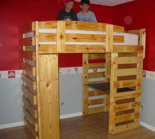 Best Bunk Loft Factory Twin Loft Bed Frontier Style 400 x 300