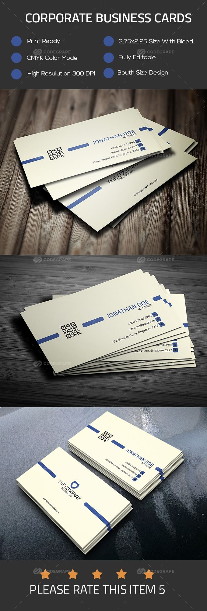 Corporate Business Card Corporate Business Card Printing Business Cards Corporate Business