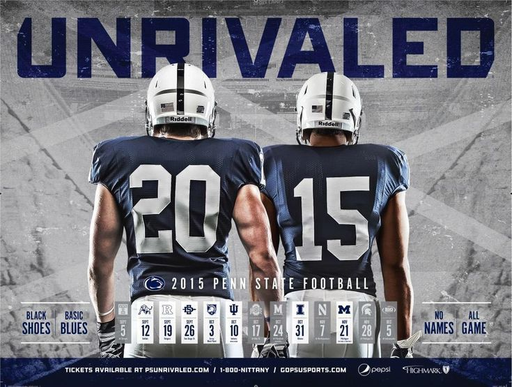 penn state football 2015 | 2015 PosterSwag.com FBS Football Poster Social Vote Results | Poster ...