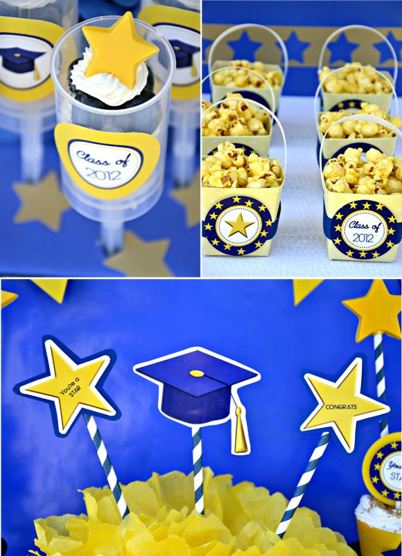 Great blog! Bird's Party Blog: Graduation Party Ideas + FREE Graduation Party Printables!  She has EVERYTHING you need.