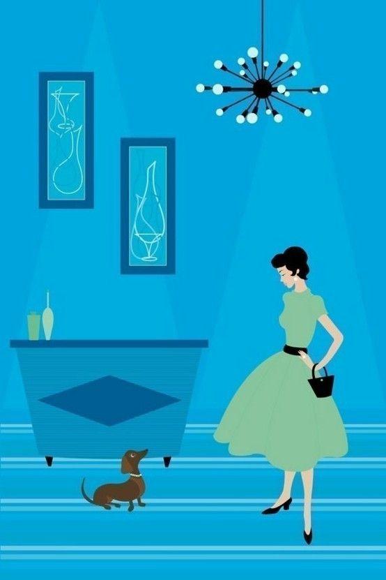 feeling blue: Retro Doxi, Dachshund Art, Editing Prints, Limited Editing, Vintage Dachshund, Minis Dachshund, Weiner Dogs, Wiener Dogs, Dachshund Prints