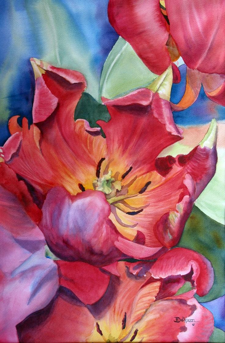 Watercolor artist in texas - Jeanne Dehaan Watercolor Artist Floral Art