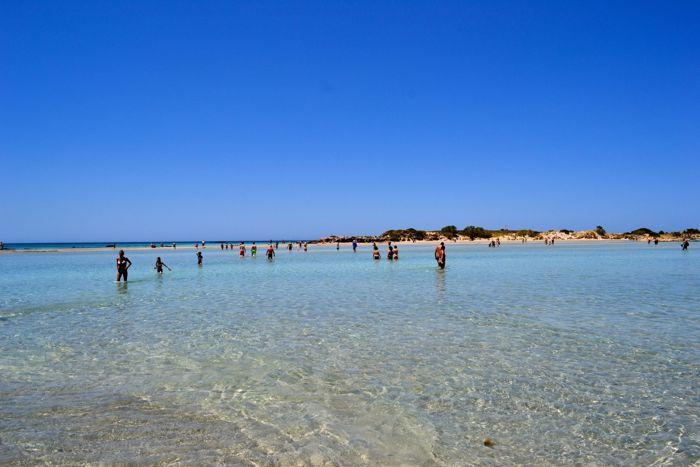 Elafonisi beach-Crete island