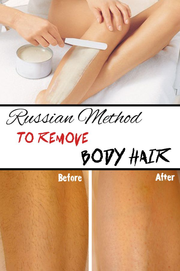 Russian method to remove body hair