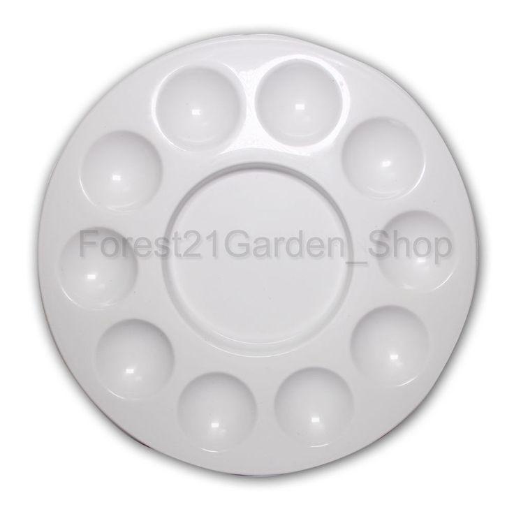 Plastic 10 Round Hole Paint Palette Tray - Plasctic - 1Pcs #Danami