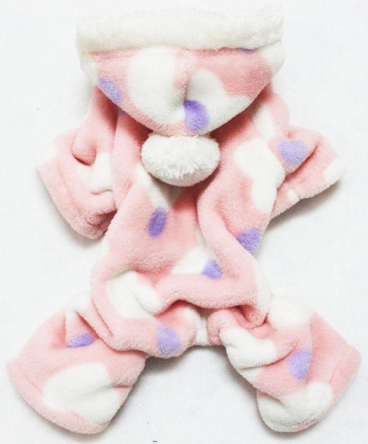 Собака фланель пижамы мягкий собака одежда для чихуахуа пудель собака одежда зима собака тёплый комбинезон домашнее животное комбинезон