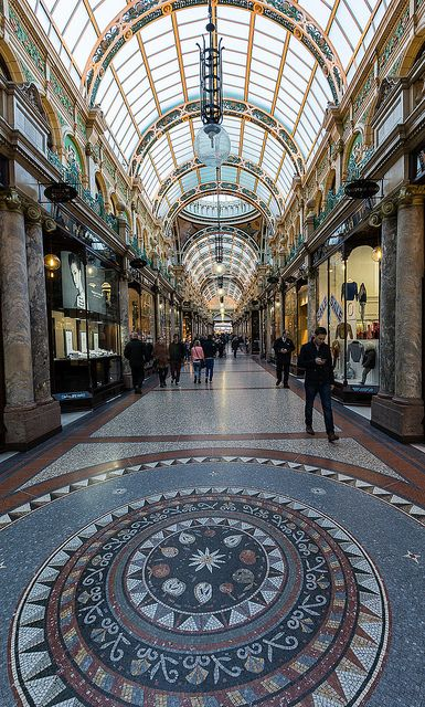 Leeds arcade, West Yorkshire, England, UK