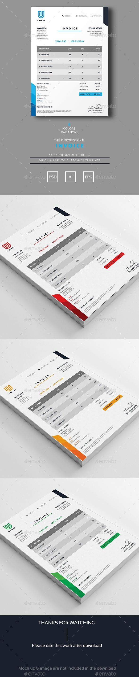 191 best Proposal & Invoice Templates images on Pinterest | Invoice ...