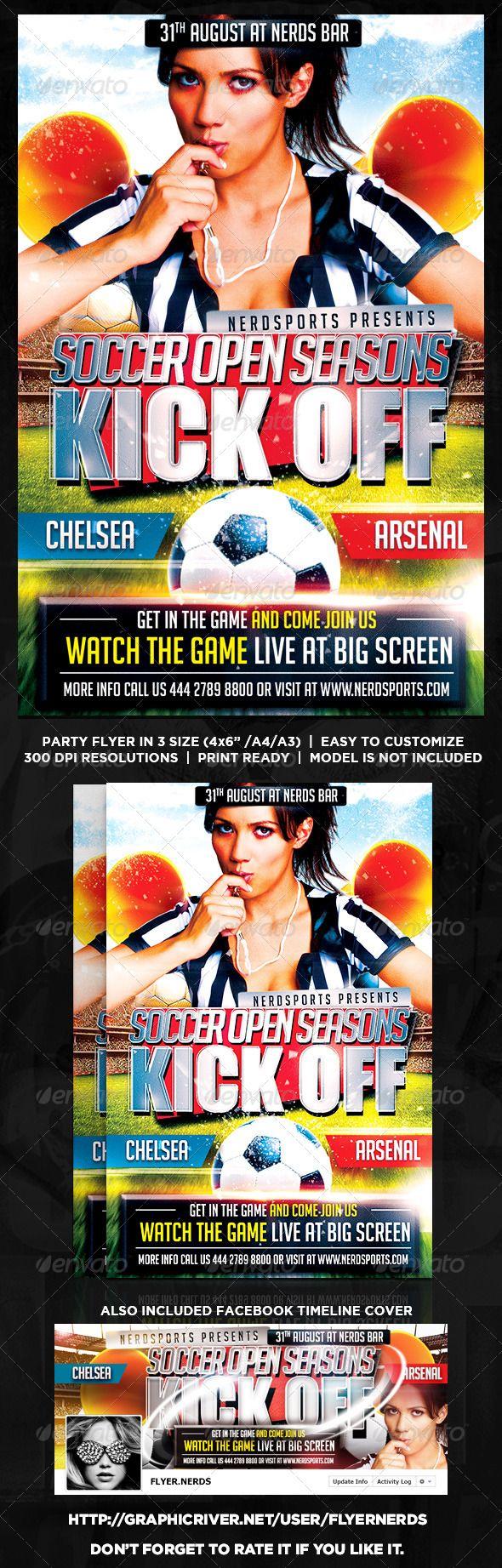 Soccers Premiere Seasons Flyer