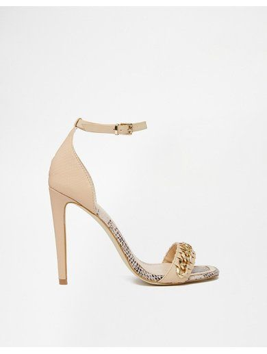 River Island Nude Snake Effect Barely There Heeled Sandals - Beige http://sellektor.com/all?q=river+island