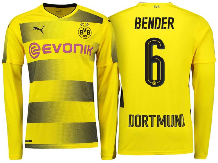 Borussia Dortmund 2017-18 LS Home Shirt sven bender