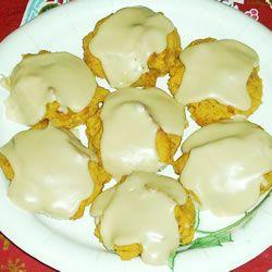 Pumpkin Cookies with Penuche Frosting Allrecipes.com: Pumpkin Cookies ...
