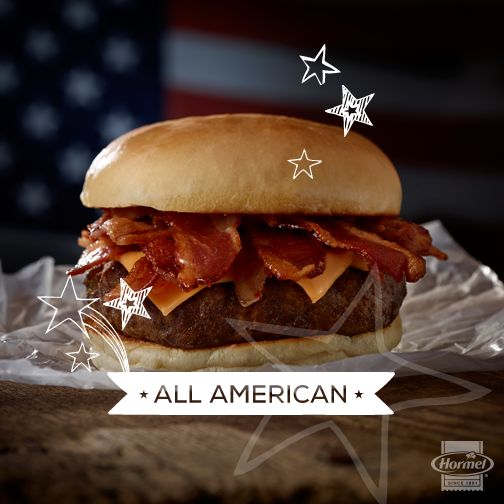 The All-American cheeseburger made even more perfect with bacon. Stir ...