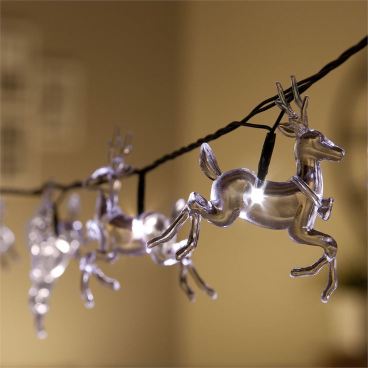 Lytworx 40 LED White Reindeer String Lights