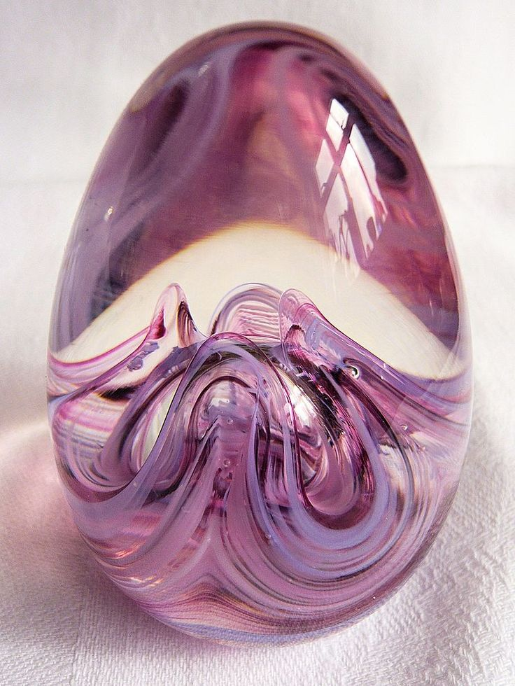 Selkirk Glass Paperweight: Pink from treasureisle on Ruby Plaza