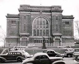 Akron Armory. Hank used to go to wrestling here and he took me once.  BoBo Brazil and other old-timers in a building thick with smoke!