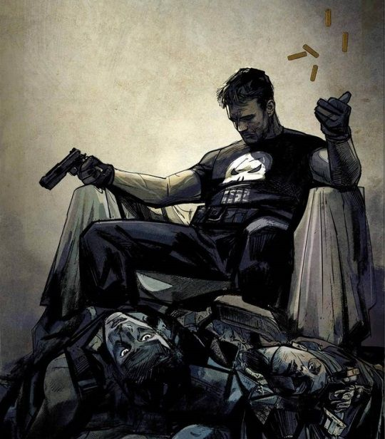 Alex Maleev's Variant for the new Punisher relaunch! With the creative team of Becky Cloonan and Steve Dillon.
